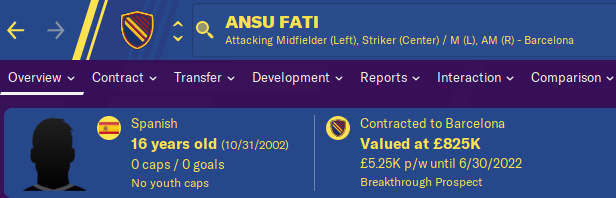FM20 Wonderkid Analysis - Ansu Fati