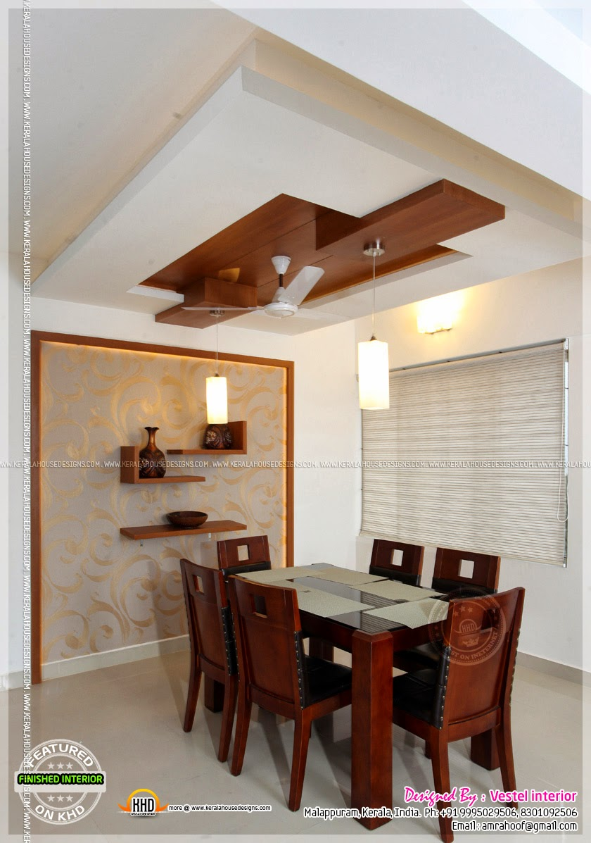 Down Ceiling Designs For Drawing Room: Finished Interior Designs In Kerala