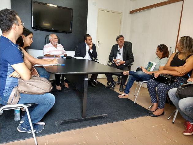 Prefeito Padre Eraldo discute precatórios do FUNDEF com representantes do SINTEAL e MPE