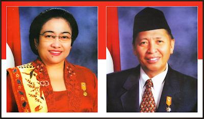 Gambar Presiden Megawati Soekarnoputri dan Wakil Presiden Hamzah Haz