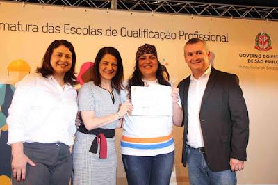 Em visita à Ilha, presidente do FSS do Estado, Lúcia França, participou da formatura do curso de padaria artesanal e lançou novos projetos sociais