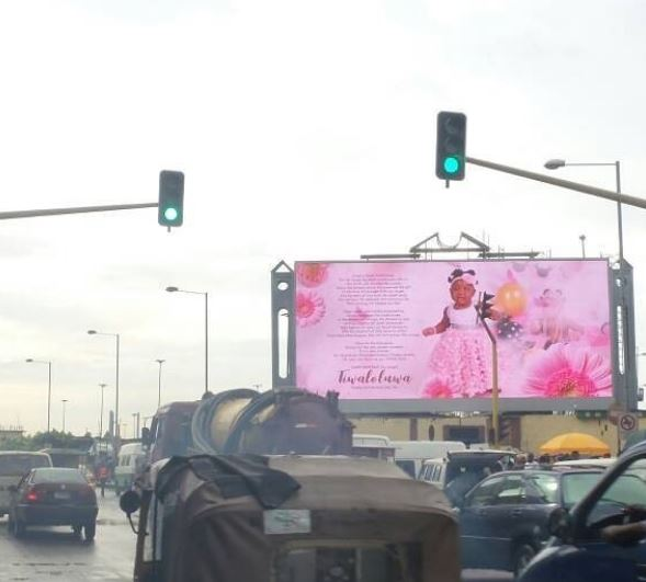 Comedian-Seyi-Law,-buys-billboard-space-to-celebrate-daughter's-birthday