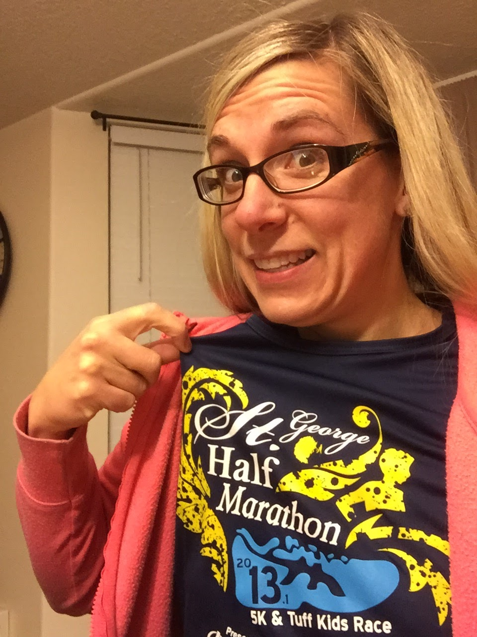St. George Half marathon race t shirt training for dopey challenge