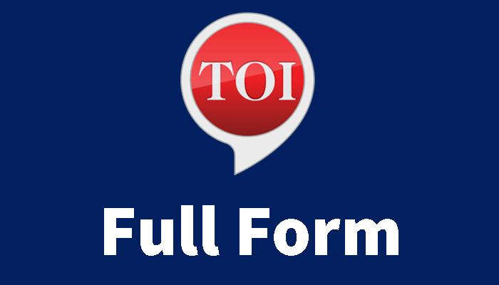 TOI full form in Hindi