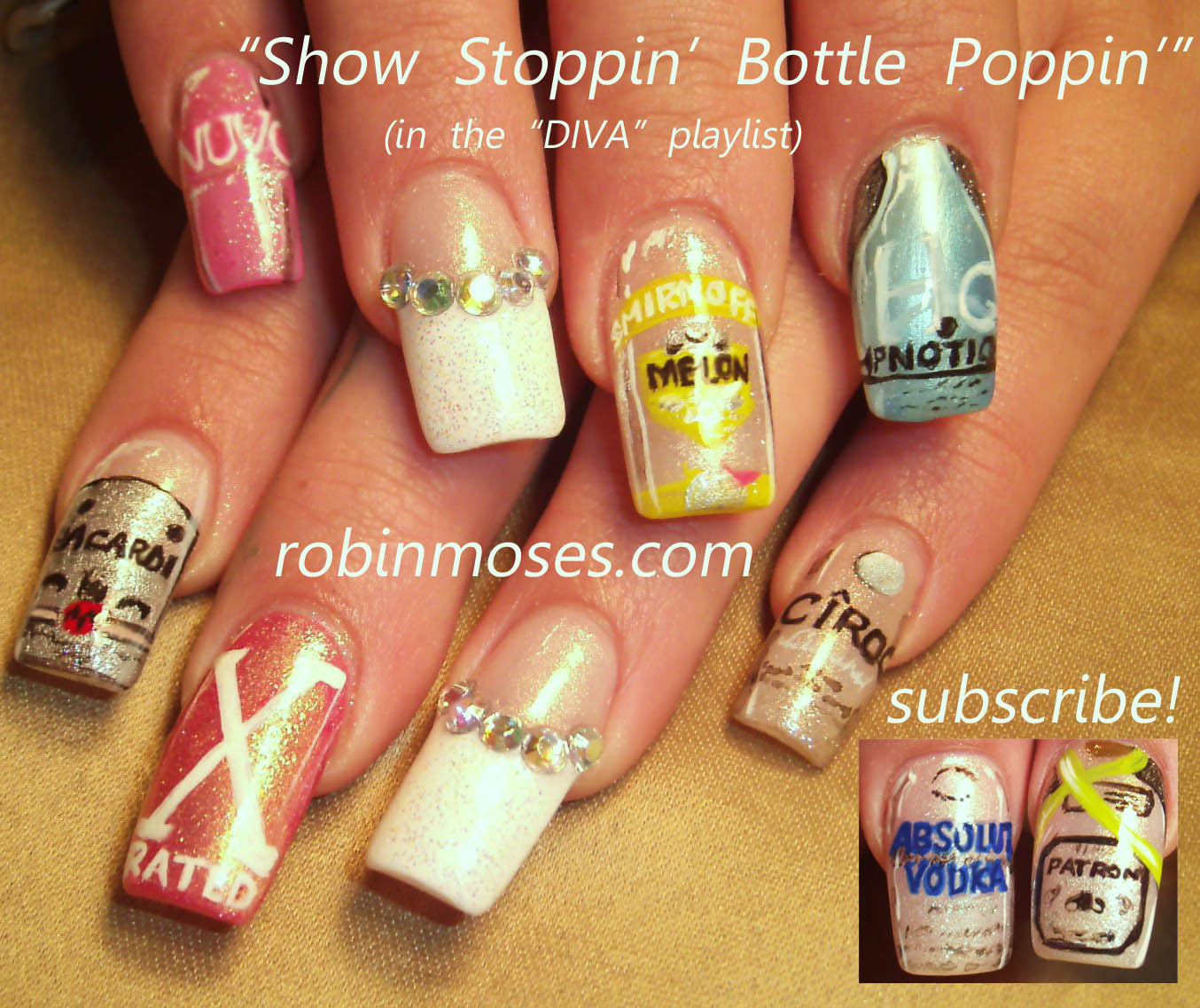 Nail Art By Robin Moses Party Nails Birthday Nails Alcohol