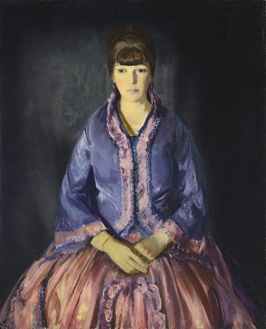 George Wesley Bellows - Эмма в сиреневом платье