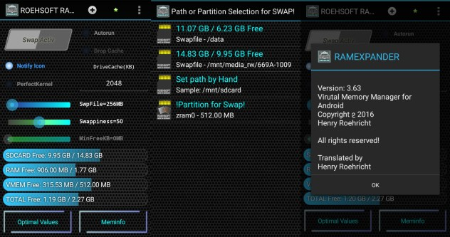 ROEHSOFT RAM Expander (SWAP) v3 64 Cracked APK Latest 2017 - Busywin
