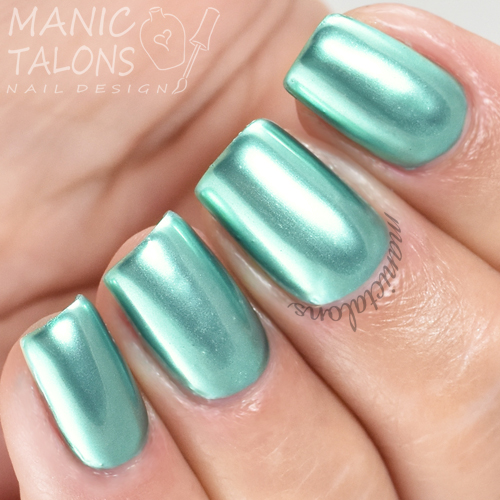 Madam Glam Metallic Gel Peppermint Swatch