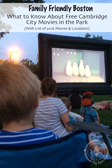 Family Friendly Boston – What to Know About Free Cambridge City Movies in the Park (With List of 2016 Movies & Locations)