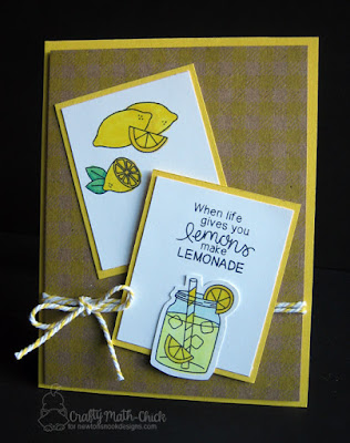 Lemonade from Lemons card by Crafty Math Chick | Freshly Squeezed Stamp set by Newton's Nook Designs