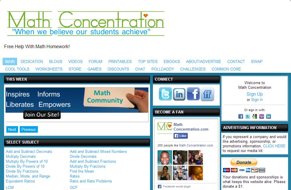 Websites to help with homework