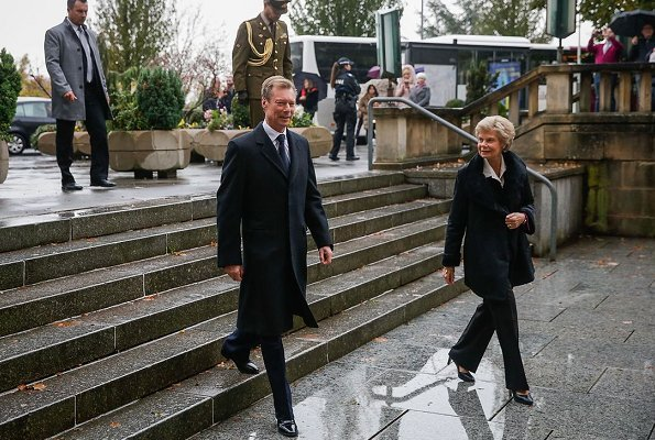 Grand Duke Henri, Princess Marie-Astrid of Luxembourg, Prince Guillaume, Princess Sibilla, Princess Charlotte, Prince Léopold