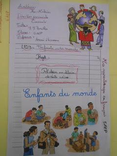 Projet de classe : Mes apprentissages en français 5aep