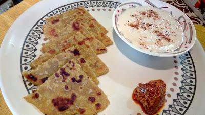 veg recipe-aloo paratha