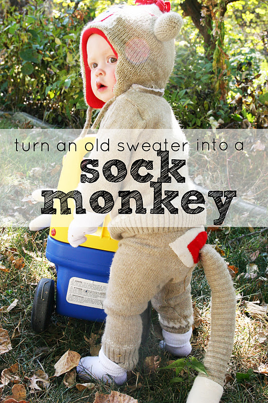 Repurposing Day 1 Old Sweater Into A Sock Monkey Homemade Ginger