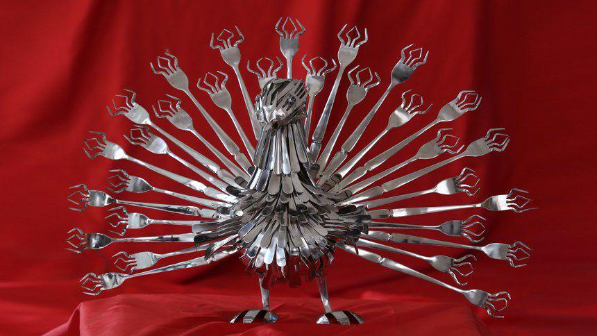 hiasan dari sendok garpu