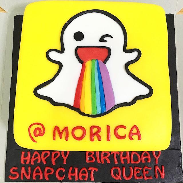 Sherbakes Snapchat Cake