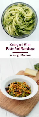 Courgetti With Pesto And Manchego, a tasty healthy meal