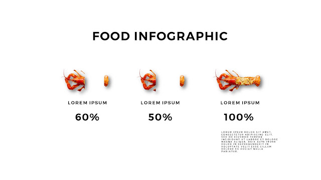 Fried Lobster Food Infographics for Free Powerpoint Template with Sliced Charts 2