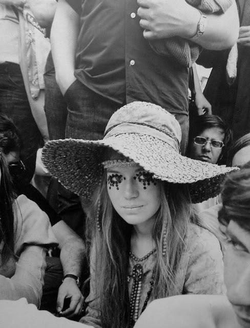 Part of the scene, Alice, London socialite, Rolling Stones Concert, Hyde Park, London, 1969, by Frank Habicht.
