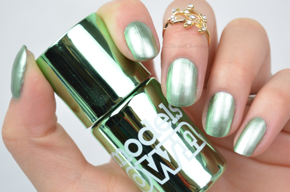 Models Own Colour Chrome Nail Polish - Chrome Green