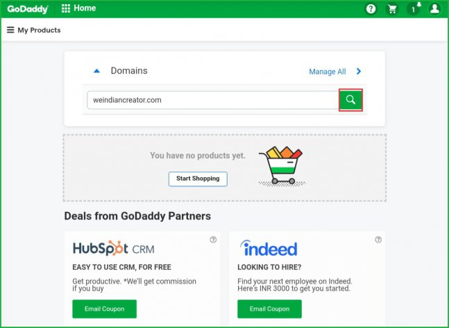 GoDaddy-domain-name-search