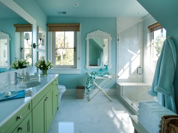 Modern Furniture Twin Bathroom Pictures Hgtv Dream Home