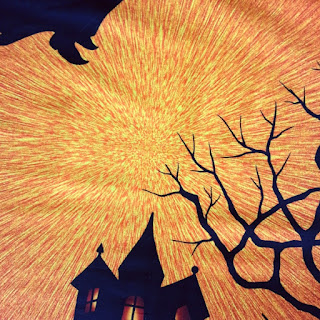 High print quality on this cotton fabric panel for Halloween makes from More Sewing