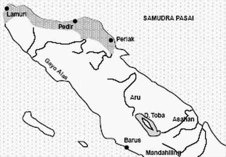 peta kekuasaan kerajaan samudra pasai