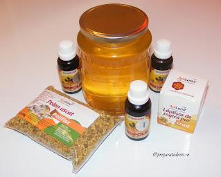 Retete cu produse apicole naturale reteta cu miere de albine polen propolis si laptisor de matca,