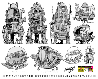 http://studioblinktwice.deviantart.com/art/7-Rocket-and-Space-Ship-designs-and-concepts-629855400