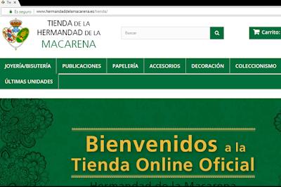 Tienda online oficial de la Hermandad de la Esperanza Macarena de Sevilla
