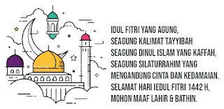 Ucapan Selamat Hari Raya Idul Fitri 1442 H 2021