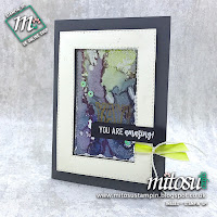 Amazing Life Stampin' Up! Oxidised Metal Technique Card Idea. Order Cardmaking Products from Mitosu Crafts UK Online Shop 24/7