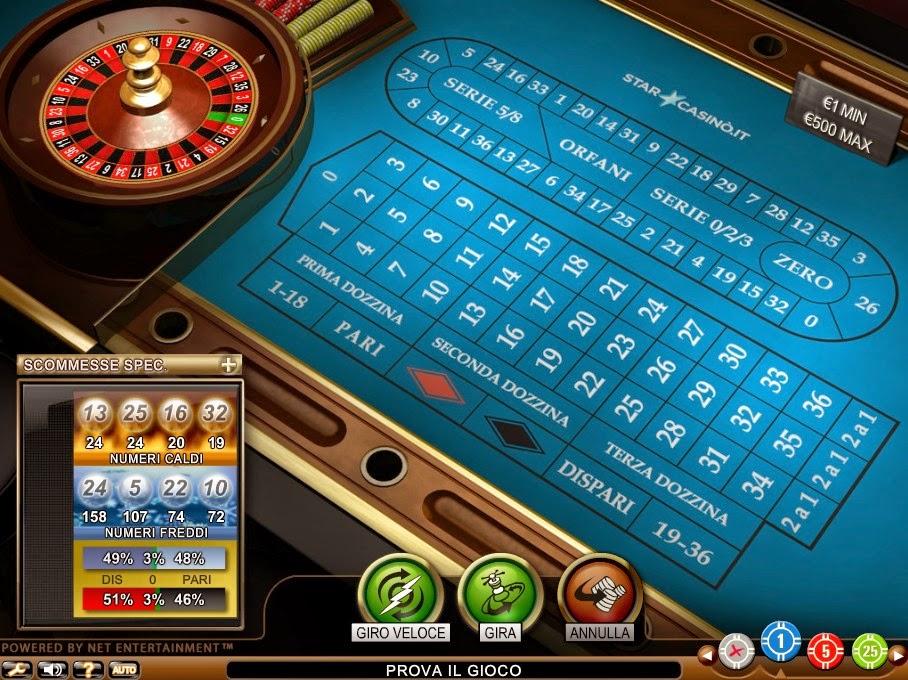 StarCasino Roulette Screen
