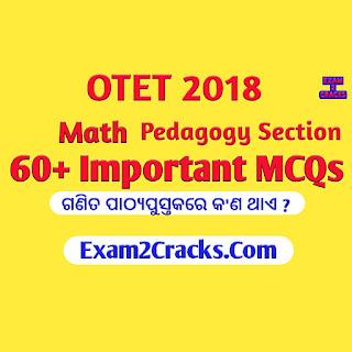 Otet 2018 math pedagogy questions