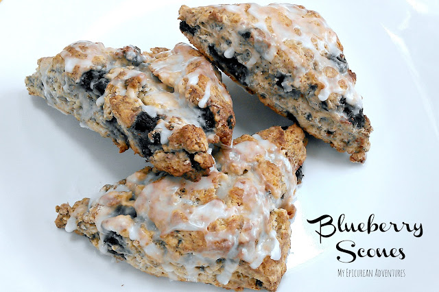 The BEST wholesome blueberry scones ever. SO delicious and SO easy to make!