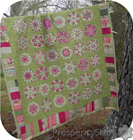 ProsperityStuff Kaleidoscope Quilt on Clothesline