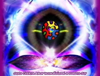 Con el Amor Incondicional a nuestro Ser, hemos ido más allá de nuestro propio yo representado por los primeros cinco Chakras y de nuestra Multidimensional del Ser representada por nuestro sexto y séptimo Chakras.