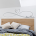 VINILO DECORATIVO PARED INFINITO CORAZON W446