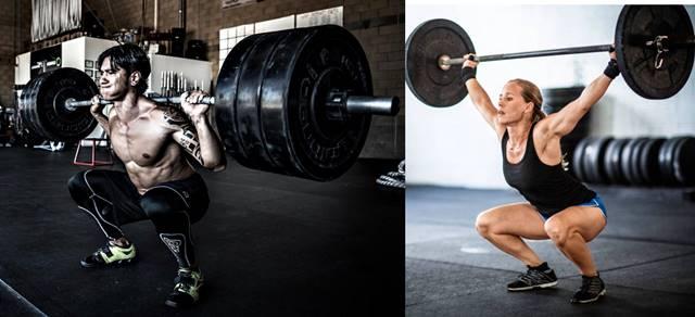 Entrenamiento hasta el fallo muscular hombre y mujer