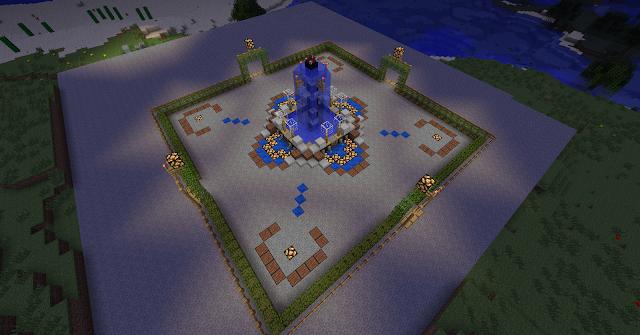 La fontaine bibliothécaire, parfait pour décorer une cour de bibliothèque.