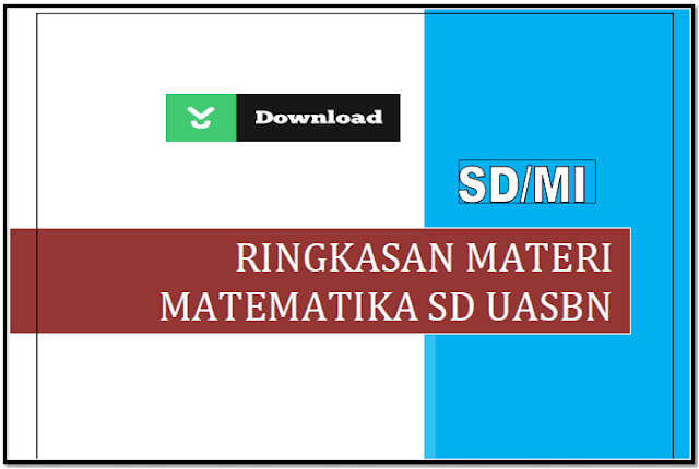 Download Rangkuman Materi USBN Matematika SD/MI 2018
