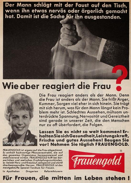 Werbung Frauengold