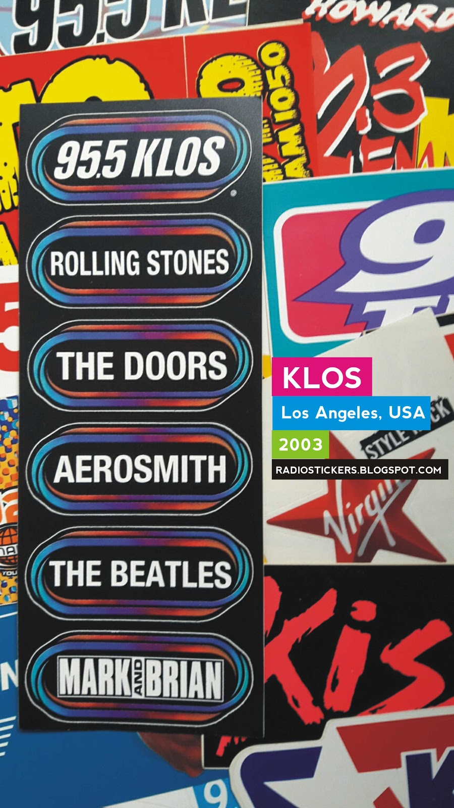 Radio Station Stickers And More 95 5 Klos Los