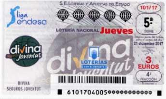 Décimos de la loteria nacional dedicados al Joventut