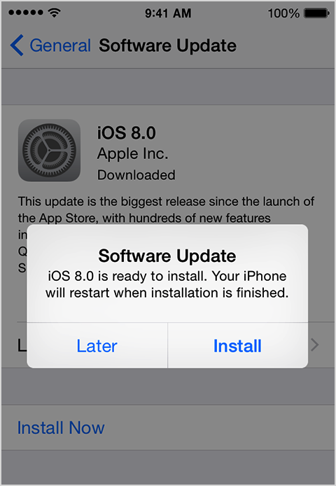 21 Sep 2014 ... Update To iOS 8: Install iOS 8 On iPhone 5S, 5C, 4S, iPad, iPod Touch. Update  To iOS ... You cannot use iOS 8 on your iPhone 4 smartphone.