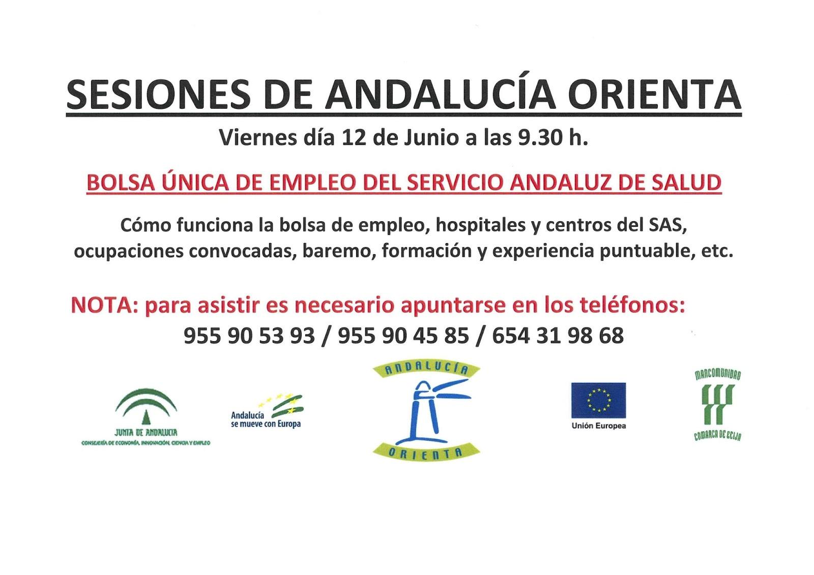 Andalucia Orienta Mancomunidad écija Sesiones Informativas