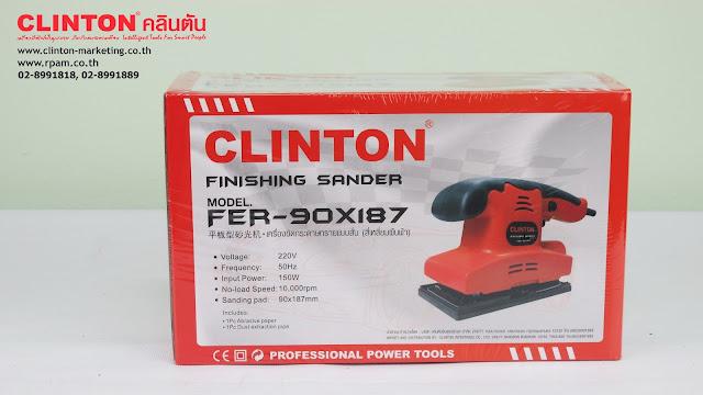 เครื่องขัดกระดาษทรายลม ยี่ห้อ CLINTON รุ่น FER-90x187