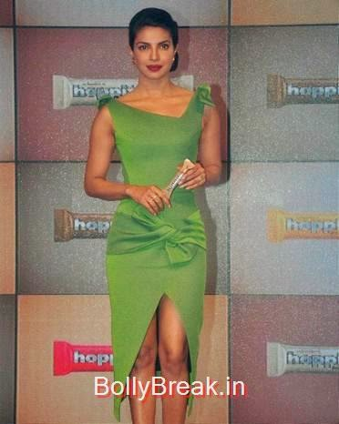 High Quality Priyanka Chopra Pics, Priyanka Chopra Hot Pics in green dress from Hoppit Chocolate Launch